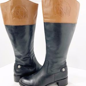 Franco Sarto Tall L-Chipper Leather Riding Boots